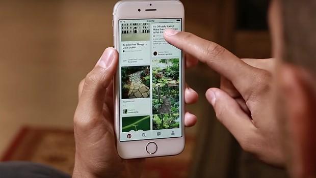 Versão mobile do Pinterest (Foto: Reprodução/YouTube)