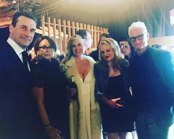 Elenco de Mad Men reunido em festa pós-Oscar (Foto: Reprodução/Instagram)
