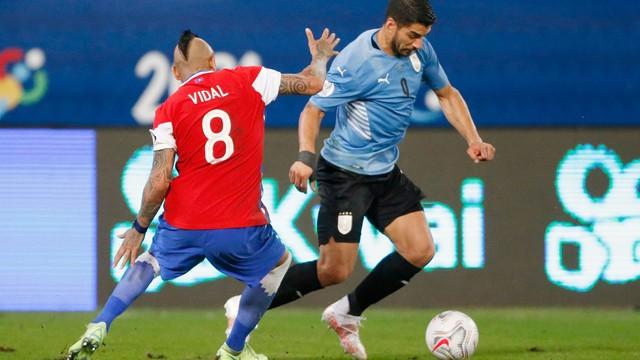 Uruguai x Chile Copa América Vidal Suarez