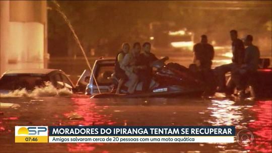 Moradores do Ipiranga tentam se recuperar após as enchentes