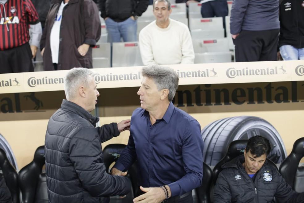 Tiago Nunes pode superar marca de Renato em 2020 — Foto: Jonathan Campos/Gazeta do Povo