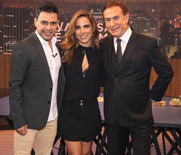 Zezé Di Camargo, Wanessa Camargo e Amaury Jr (Foto: Deividi Correa / AgNews)