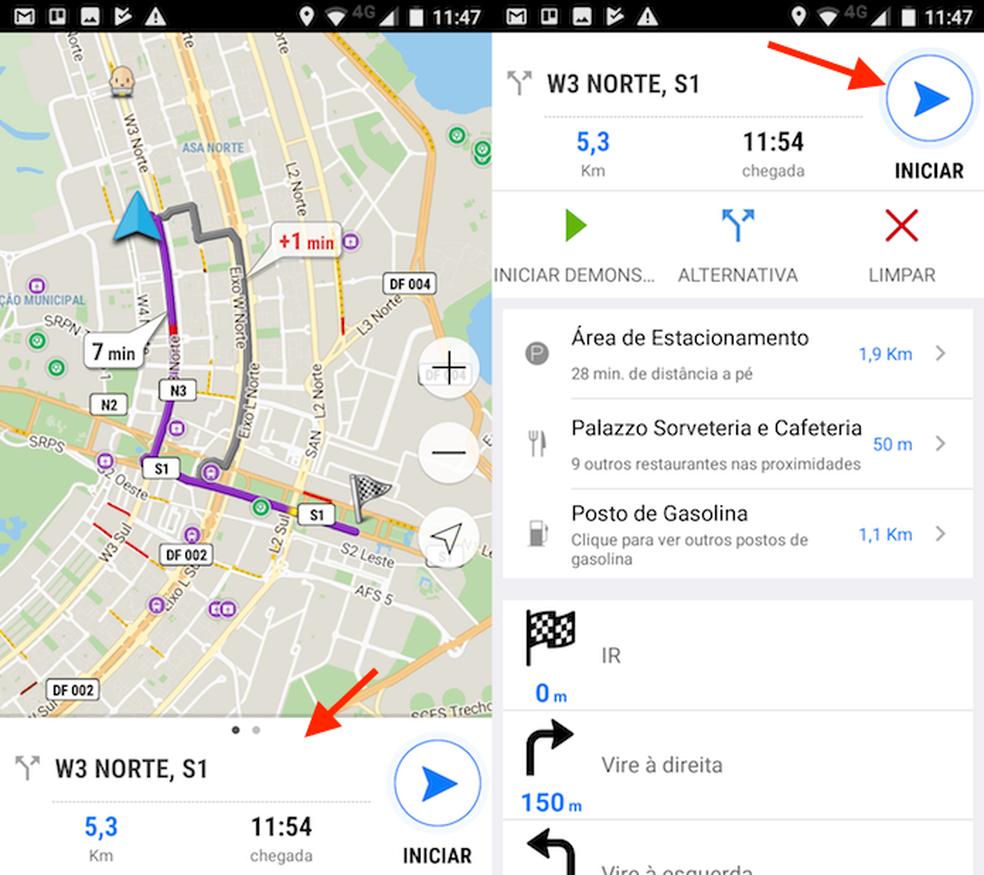 Opção para ver detalhes de uma rota no Navmii GPS (Foto: Reprodução/Marvin Costa)