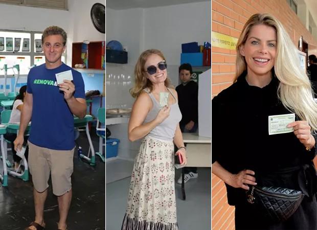 Luciano Huck, Angélica e Karina Bacchi (Foto: Anderson Borde e Francisco Cepeda / AgNews)
