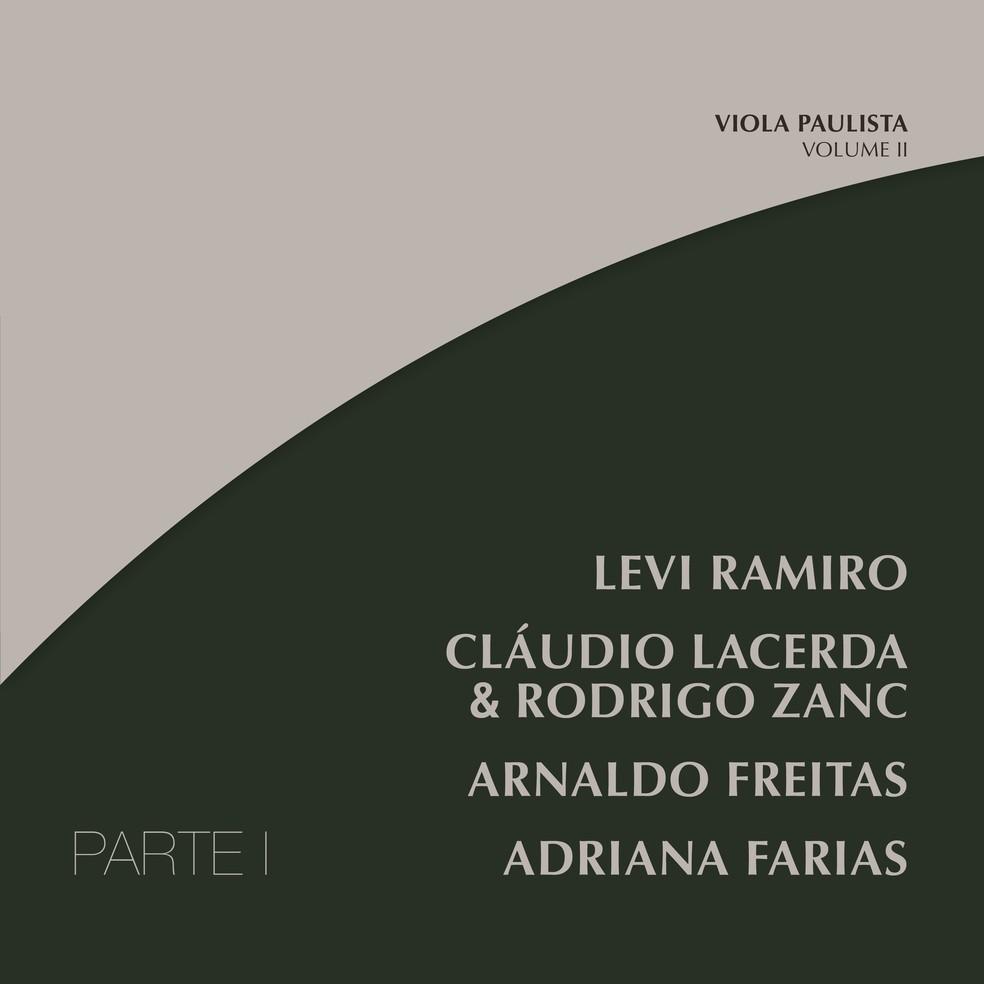Capa do EP 'Viola paulista – Volume II (Parte I)' — Foto: Divulgação