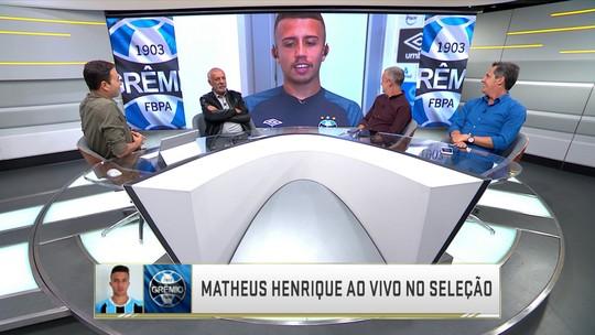 Matheus Henrique, do Grêmio, deixa apelido de lado e cita Arthur, Xavi e Iniesta como referências