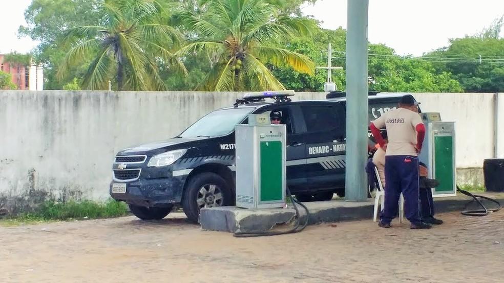 Posto de abastecimento do governo do estado, onde funcionários foram presos por furto de combustíveis (Arquivo) — Foto: Igor Jácome/G1