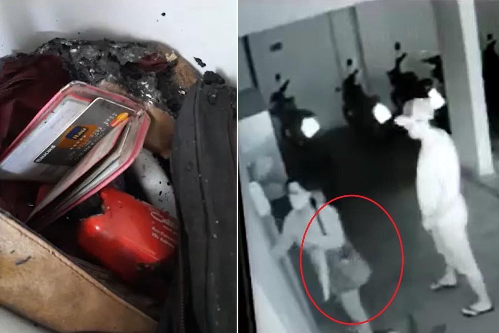 Bolsa de Aline foi encontrada no apartamento de vizinho apontado como autor de homicídio