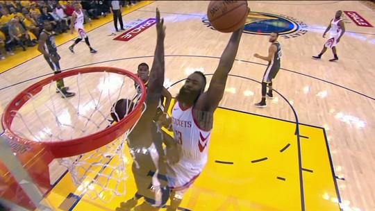 Cravada de Harden, brilho de Chris Paul, erros de Curry: Rockets empata final com Warriors