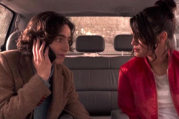 Timothée Chalamet, Selena Gomez the scene-A Rainy Day in New York city (2019), Woody Allen (Photo: Playback)