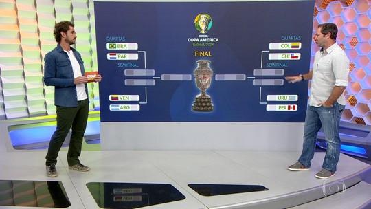 """Caio Ribeiro analisa as quartas de final da Copa América: """"Brasil vai ter que ter paciência"""""""