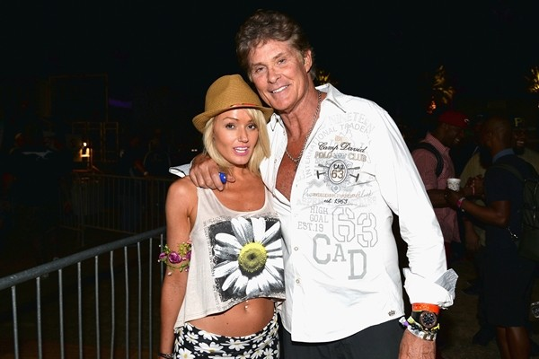 Hayley Roberts e David Hasselhoff  (Foto: Getty Images)
