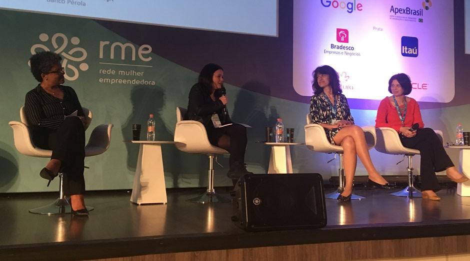 Janina Jacino, Alessandra França, Maria Alice Frontini e Maria Rita Spina participaram do painel (Foto: Carina Brito/Editora Globo)