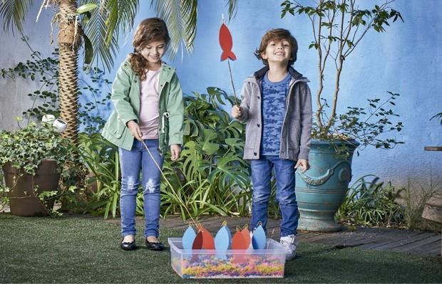 As crianças adoram brincadeiras como a pesca (Foto: Divulgação)