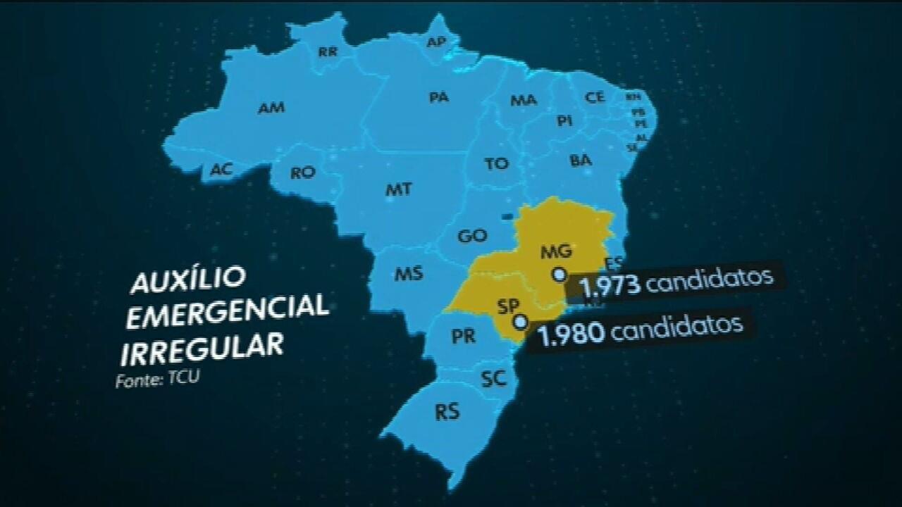 Mais de 10 mil candidatos receberam auxílio emergencial indevido