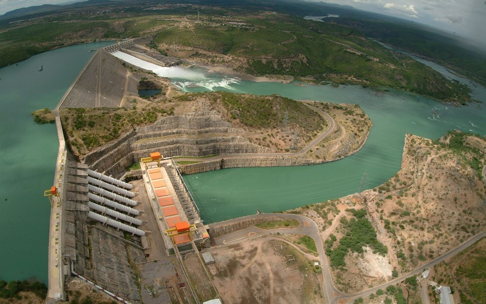 Usina Hidrelétrica de Xingó — Foto: Chesf/Divulgação/Arquivo