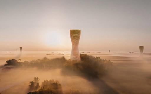 Designers desenvolvem torre para purificar o ar de Délhi, na Índia