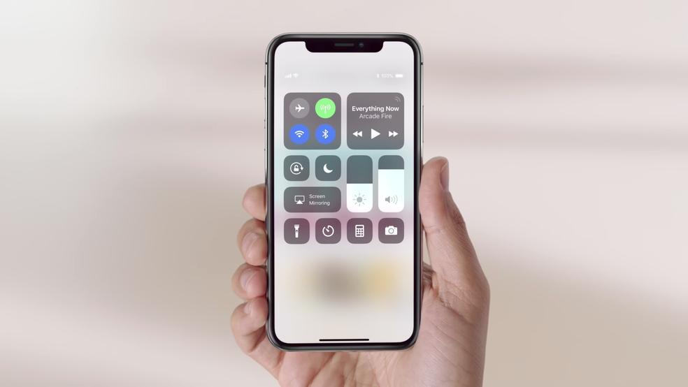 Nova Central de Controle chegou ao iOS 11 (Foto: Reprodução)