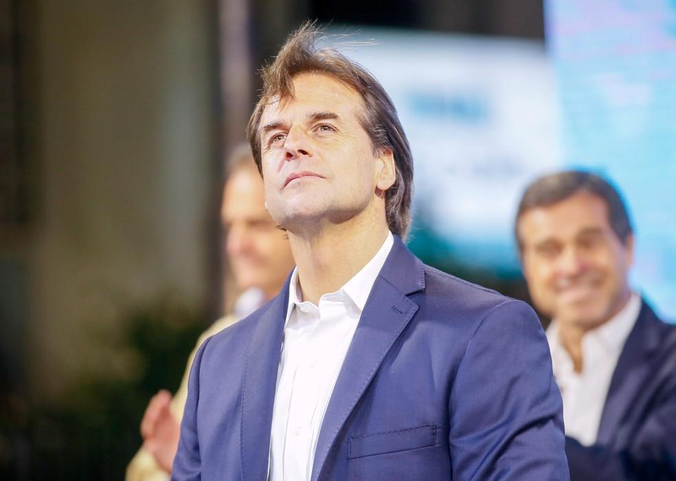 O novo presidente do Uruguai, Luis Lacalle Pou, em imagem do dia em que foi eleito, 25 de novembro de 2019 — Foto: Mariana Greif/Reuters
