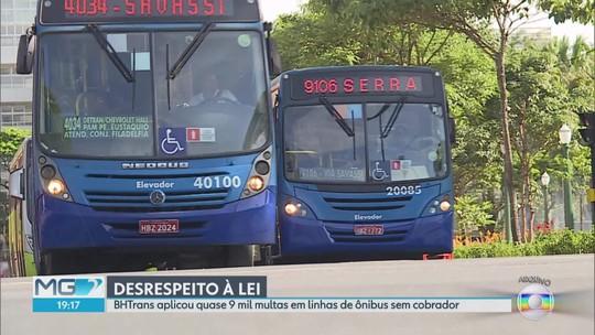 Empresas alegam que dificuldade na contratação é responsável pela falta de cobradores em ônibus de BH