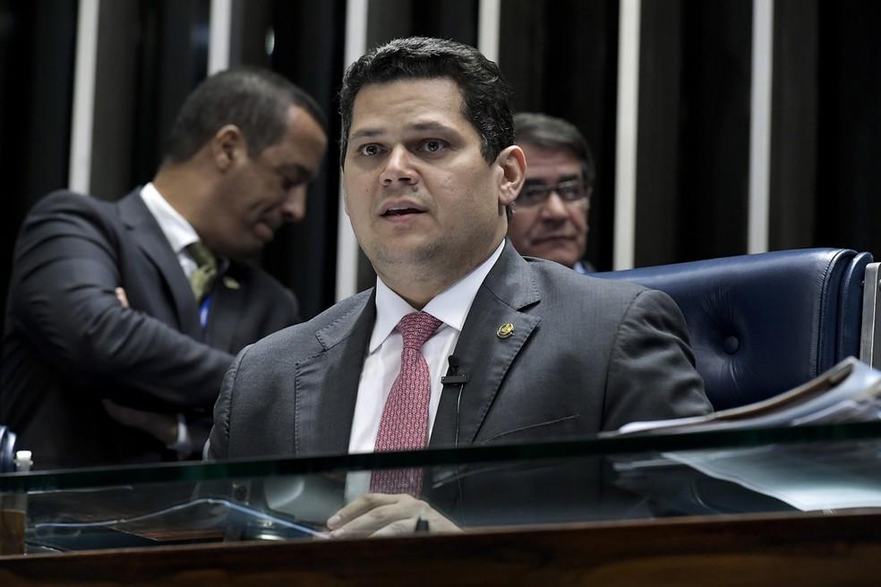 O presidente do Senado, Davi Alcolumbre — Foto: Waldemir Barreto/Agência Senado