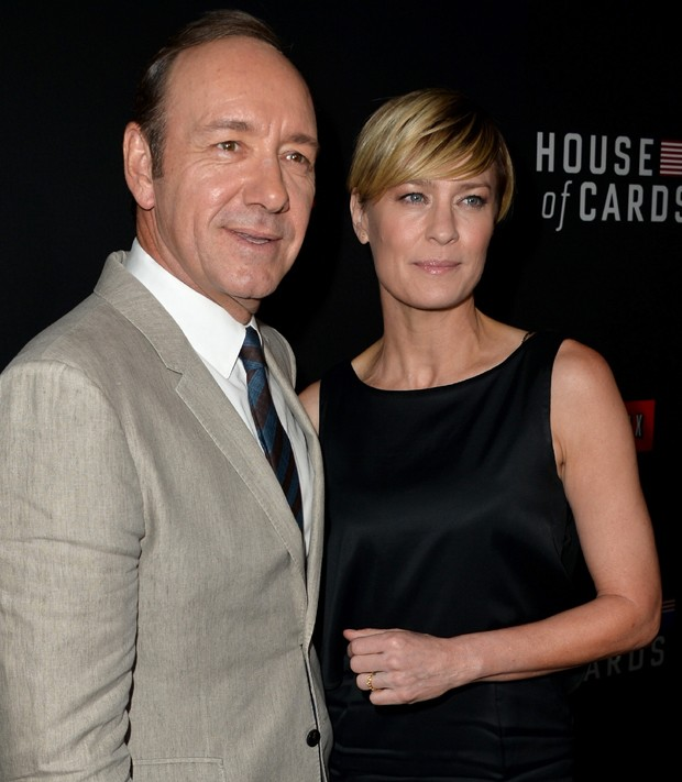 Robin Wright e Kevin Space (Foto: Getty Images)