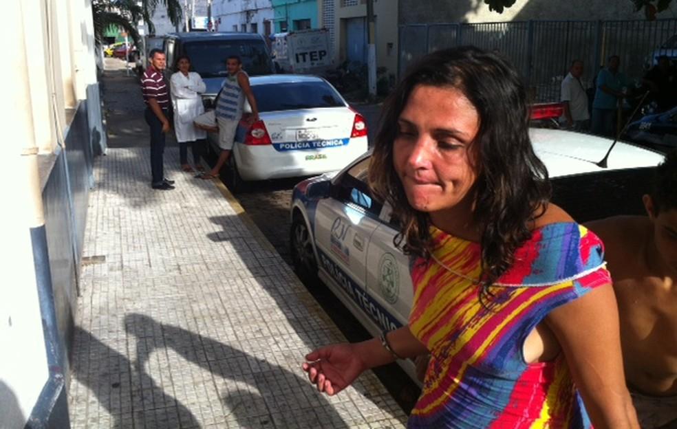Josenilde Lopes de Mendonça encontrada pela PM — Foto: Anderson Barbosa/G1