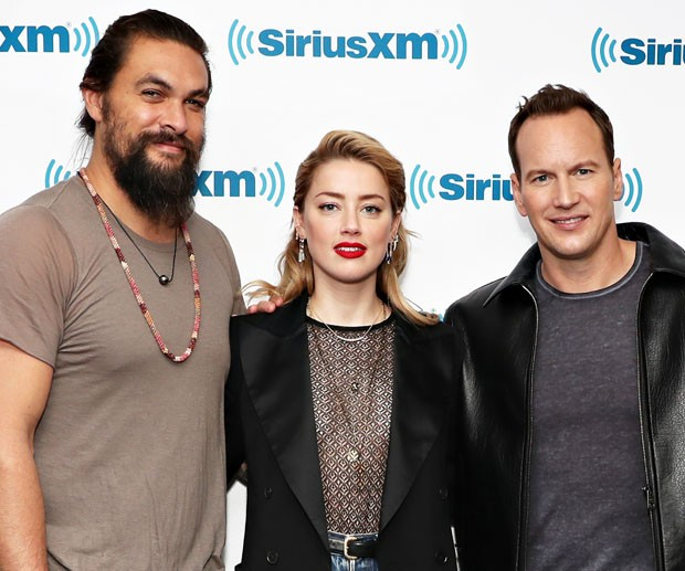 Jason Momoa, Amber Heard e Patrick Wilson (Foto: Getty Images)