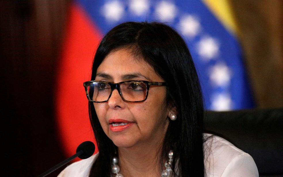 A chanceler da Venezuela, Delcy Rodriguez (Foto: Reuters/Marco Bello)