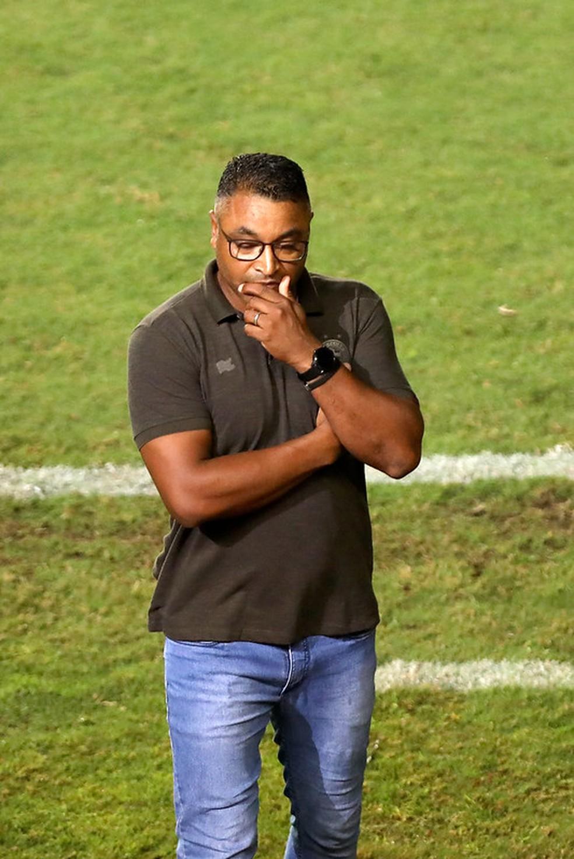Roger Machado no jogo desta quarta-feira — Foto: Felipe Oliveira / EC Bahia / Divulgação