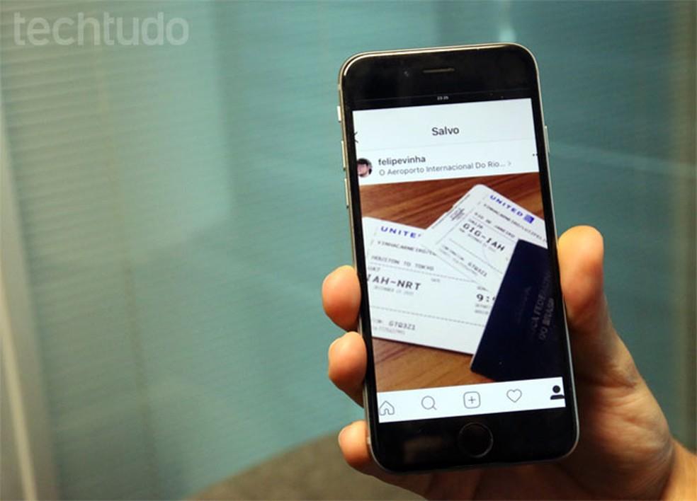 Prática comum, fotos de passagem no Instagram podem comprometer dados — Foto: Gabrielle Lancellotti/TechTudo