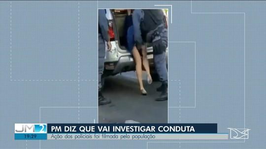 PM que colocou mão embaixo de saia de mulher durante abordagem em São Luís é afastado das ruas