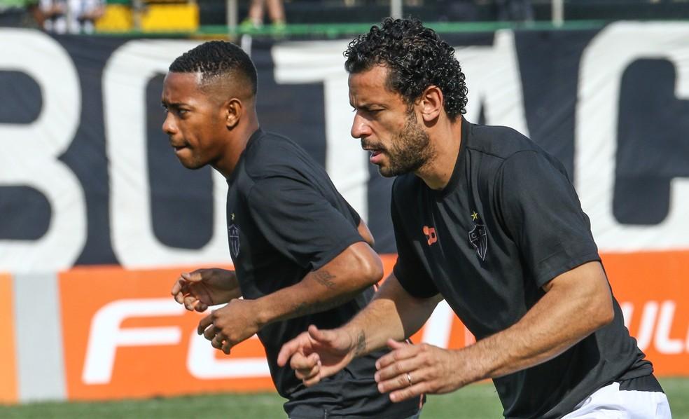 Robinho não teve o contrato renovado; Fred rescindiu o compromisso (Foto: Bruno Cantini)