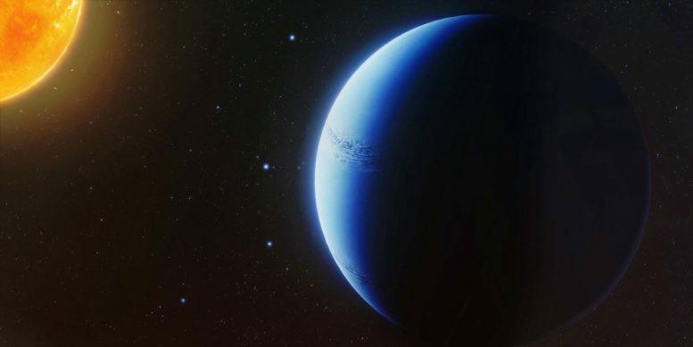 Versão artística do exoplaneta WASP-96b (Foto: Divulgação / Engine House)