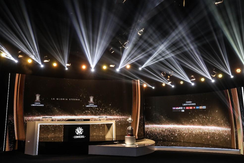 Sorteio Libertadores — Foto: Reprodução
