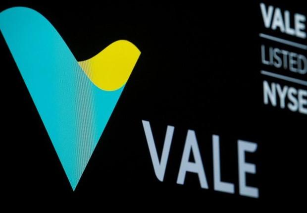 Logo da mineradora Vale na Bolsa de Nova York, nos EUA (Foto: Brendan McDermid/Reuters)