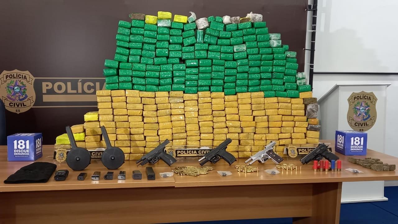 Homem é preso com 250 quilos de maconha em Cariacica, ES