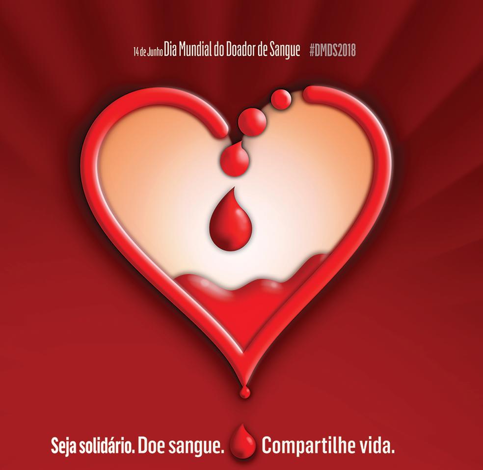 Dia Mundial do Doador de Sangue (Foto: Divulgação/OPAS/OMS)