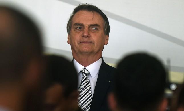 Bolsonaro na posse do novo diretor de Itaipu Binacional