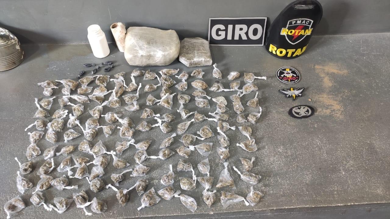 Em Cruzeiro do Sul, quatro pessoas são presas por tráfico de drogas pela Operação Patamo