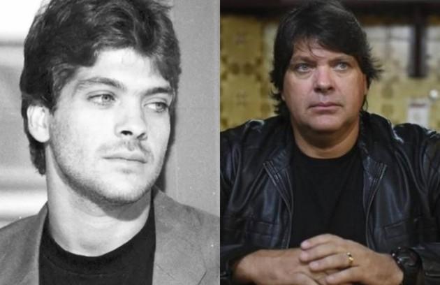 Roberto Bataglin foi Tadeu, publicitário e melhor amigo de Beto (Marcos Frota). O personagem se envolveu com Penélope (Eva Wilma). Recentemente, o ator fez 'Apocalipse', novela da Record (Foto: TV Globo e reprodução)
