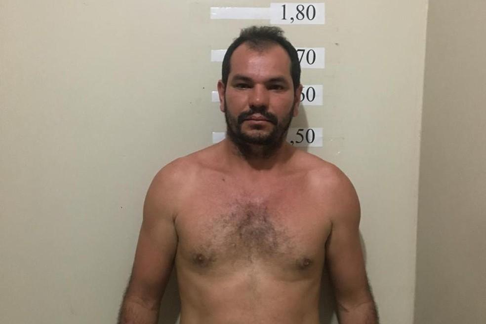 -  Antônio Helton foi preso quando se apresentava para prestar depoimento na Deam, em Santarém  Foto: Polícia Civil/Divulgação