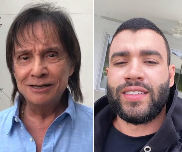 Roberto Carlos e Gusttavo Lima (Foto: Reprodução Instagram)