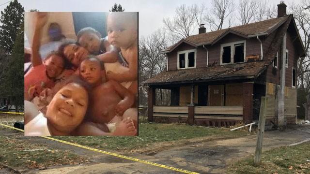 A casa era alugada pela família e pegou fogo na segunda-feira (10) (Foto: Reprodução/ Facebook e WKBN)