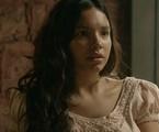 Gabriela Moreyra em cena de 'Escrava mãe' | Record
