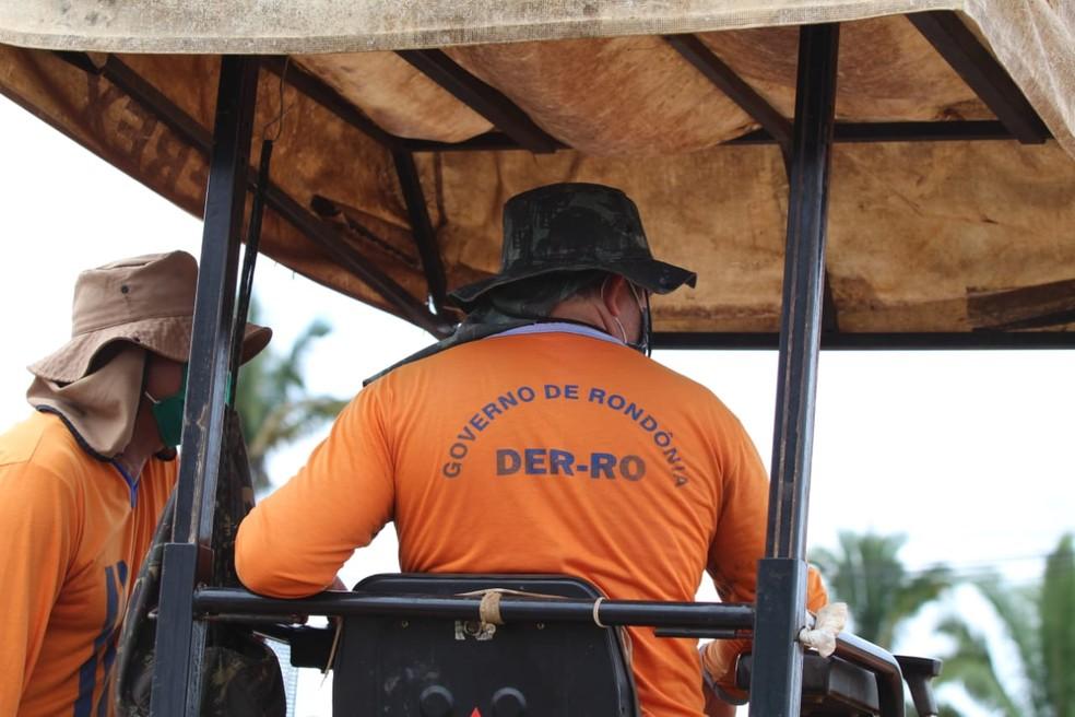 Departamento Estadual de Estradas de Rodagem e Transportes (DER) — Foto: Governo de Rondônia/Divulgação