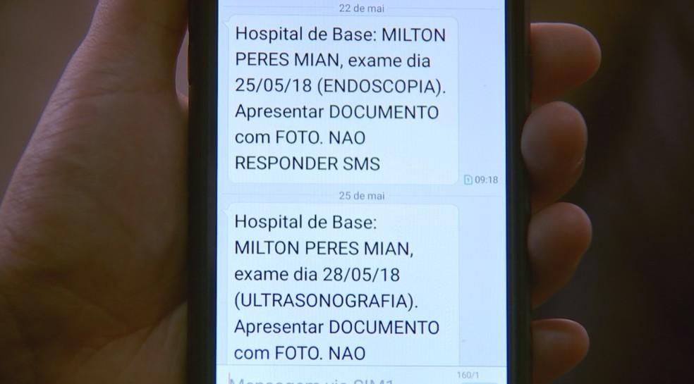 Mensagens para o dia do exame chegaram um mês depois da morte (Foto: Reprodução/TV TEM)