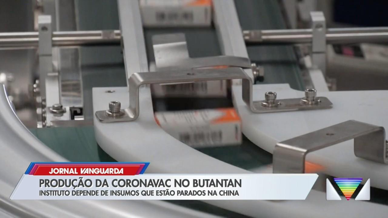Instituto Butantan depende de liberação de insumos para produzir mais doses da CoronaVac