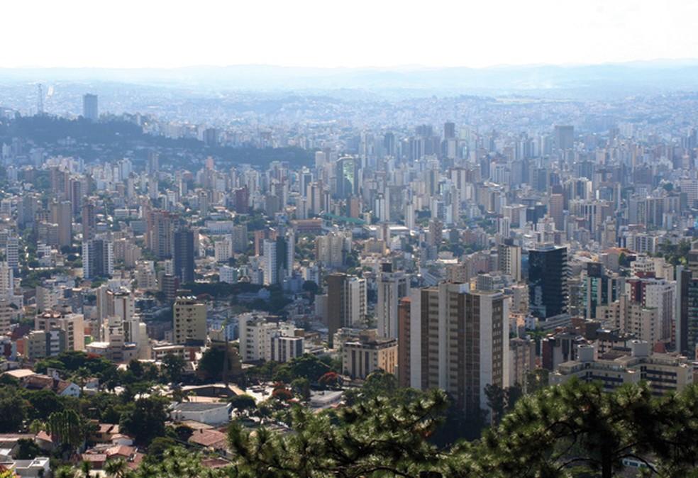 O mirante do Mangabeiras tem uma das mais belas vistas da capital — Foto: Sérgio Mourão / Setur