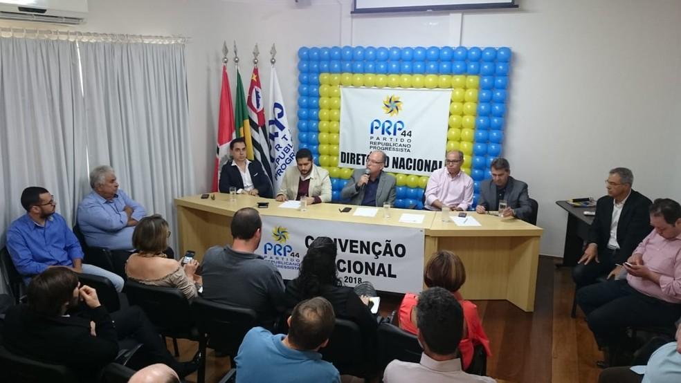 Convenção nacional do PRP foi realizada em São José do Rio Preto (Foto: Marcos Lavezo/G1)